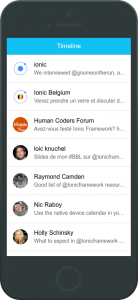 Twitter app : step 2